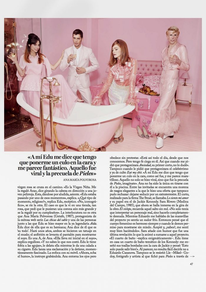 Sara, Rivero, Actriz, Cine, Moda, Magazine, Vogue, Eduardo Casanova, Pieles