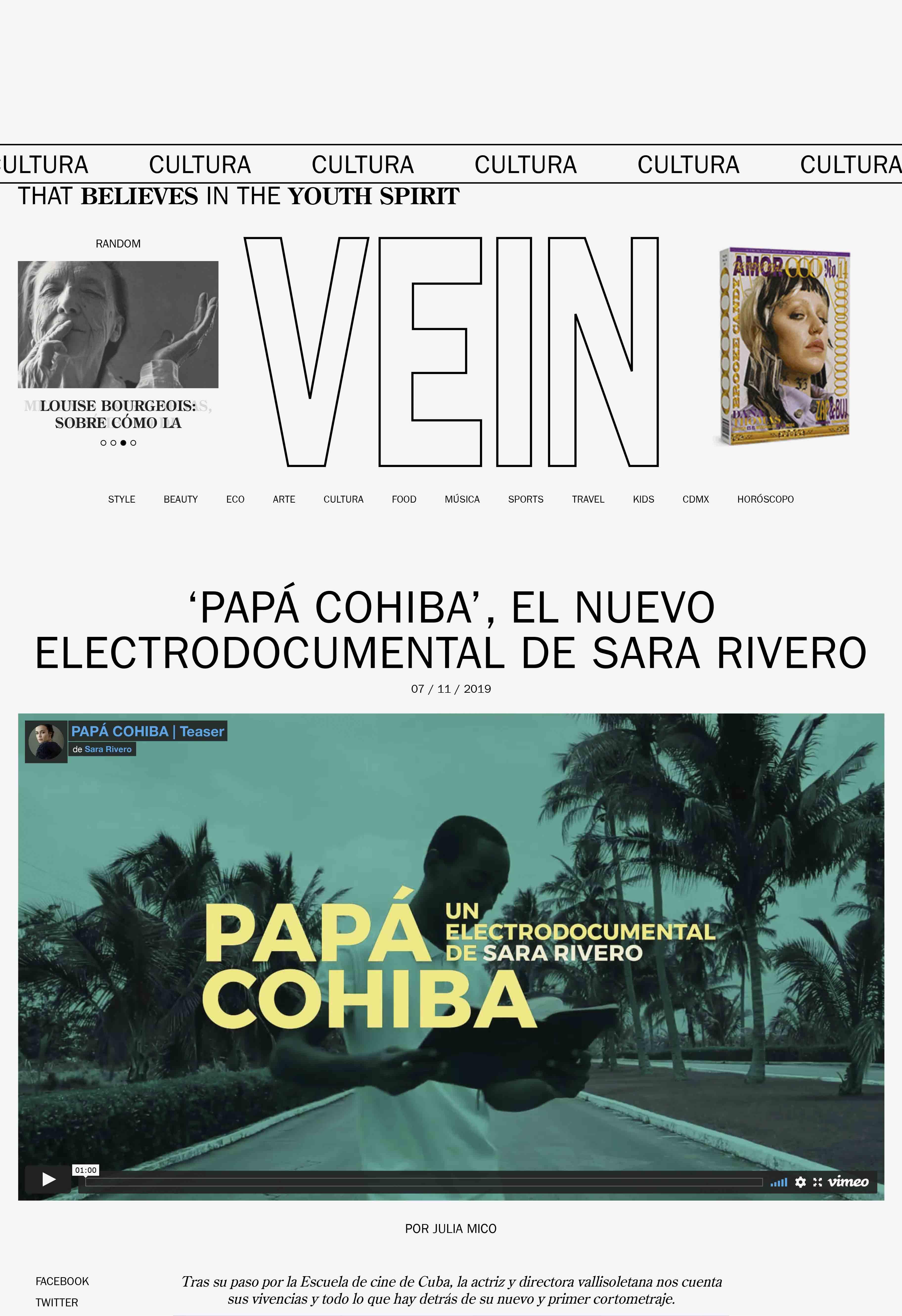 Papá Cohiba, el nuevo eléctrodocumental de Sara Rivero.